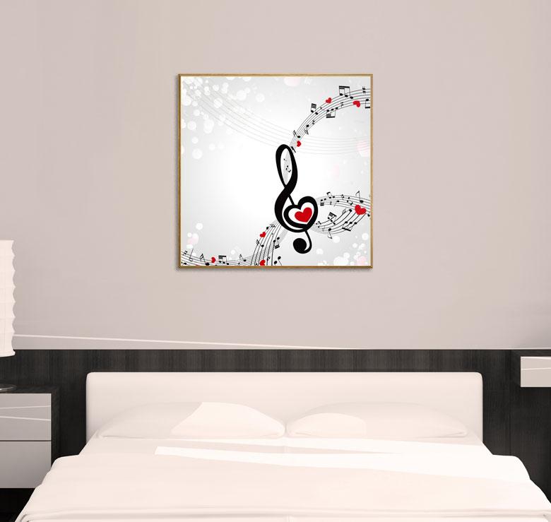 bild holzbild druck auf holz love noten schl ssel musik ebay. Black Bedroom Furniture Sets. Home Design Ideas