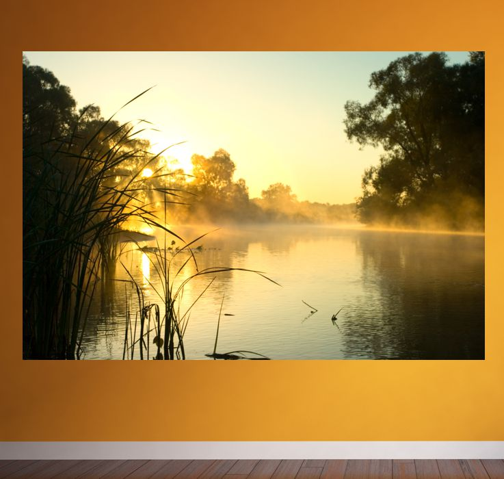 poster fototapete selbstklebend natur sunrise ebay. Black Bedroom Furniture Sets. Home Design Ideas