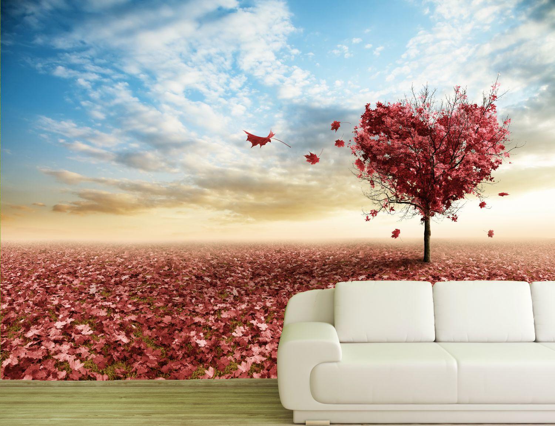 poster fototapete selbstklebend natur herzbaum ebay. Black Bedroom Furniture Sets. Home Design Ideas